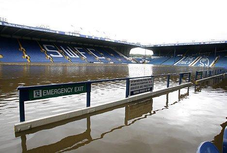 Sheffield Wednesday flooded
