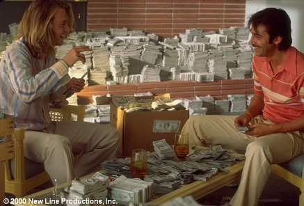 A house stacked full with dollar bills - who wouldn't want that?