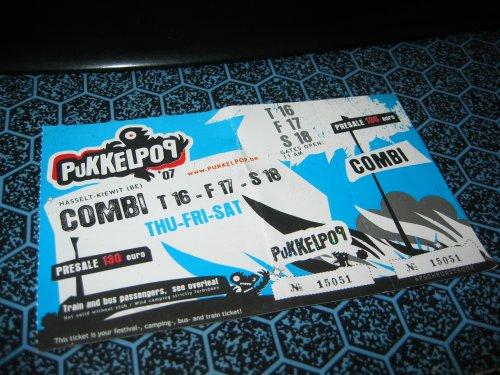 Pukkelpop 2007 ticket