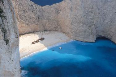 The famous Shipwreck (Navagio) Beach on Zakynthos