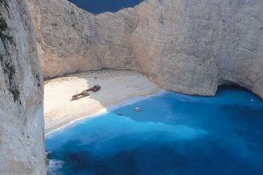 The famous Shipwreck (Navagio) Beach on Zakynthos