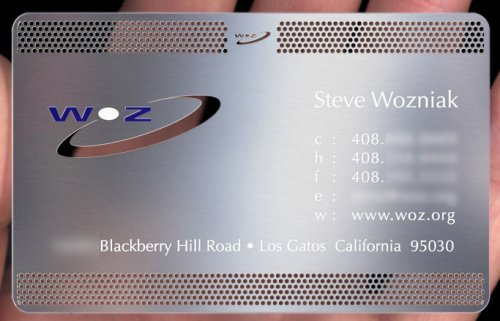 Steve Wozniak business card