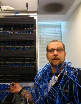 Just a random image of a server guy